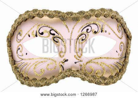 Mysterious Venetian Mask For Carnival And Masquerade