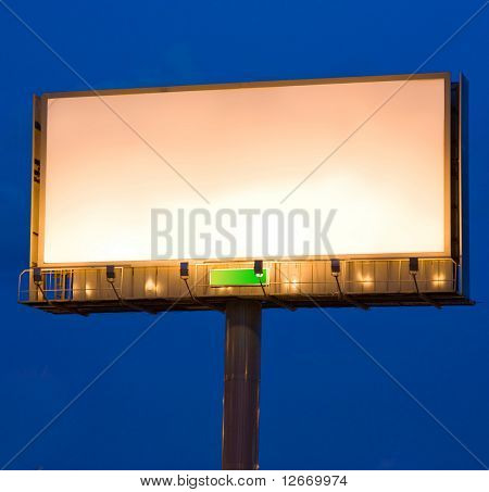 Night city illuminated billboard