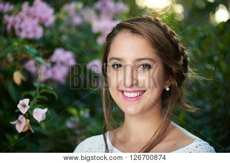 Girl With Braid In The Sun