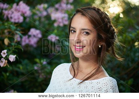 Braided Woman Smiling