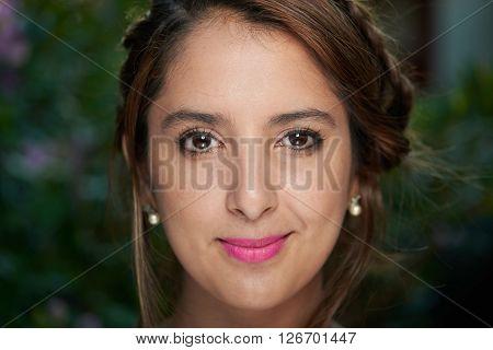 Model Closeup Braided Hair