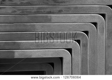 abstract of angle of aluminum tube for background used
