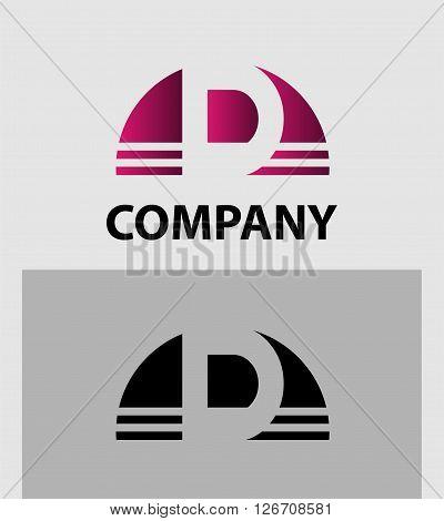 Alphabet symbol Letter D. Letter D logo design
