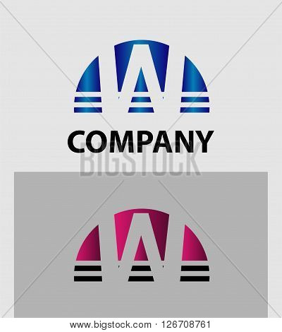Abstract letter W icon. Letter W logo icon design template elements