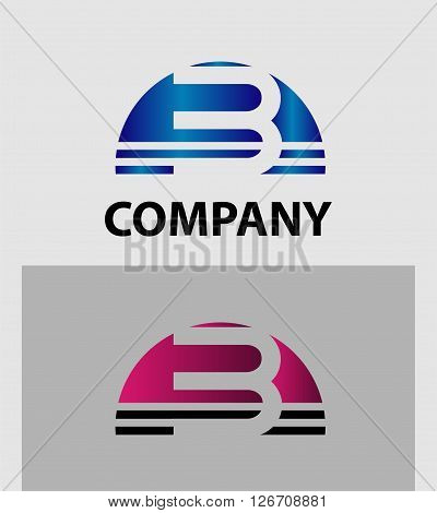 Number three 3 logo vector. logo icon design template elements