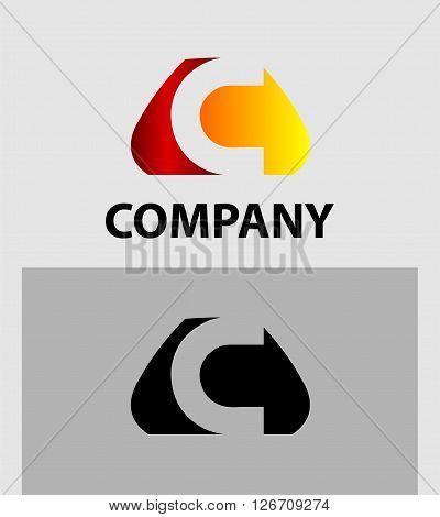 Letter C. Logo letter C company vector design template