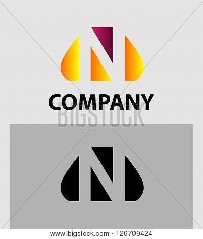 Letter N. Logo letter N company vector design template