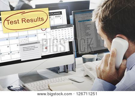 Test Results Report Research Examination Concept