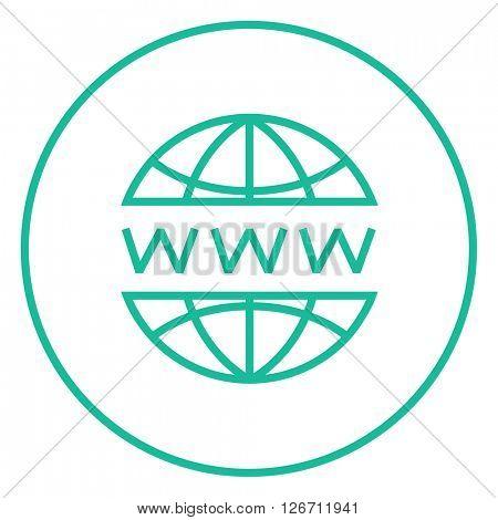 Globe internet line icon.