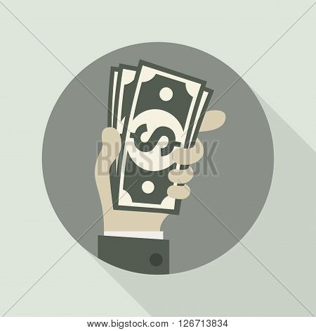 Paper Bank Notes In Hand