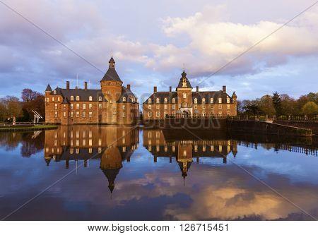 Anholt water castle at Isselburg, North Rhine-Westphalia