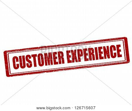 Rubber stamp with text customer experience inside vector illustration