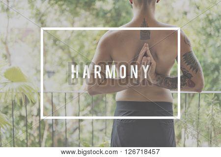 Harmony Balance Meditation Nature Purity Zen Concept