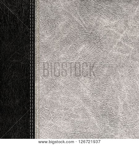 the bicolor leather vintage background close up