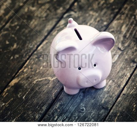 close up of classic piggybank money safer