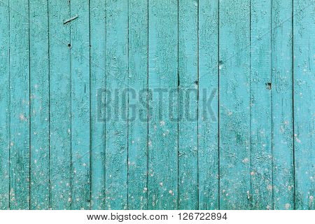 Old blue wooden background. Picture of wooden structure.