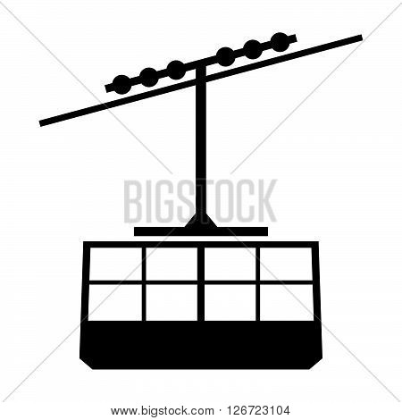 Cable cabin ( shade picture ) on white background