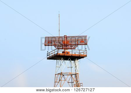 the radar building structure at the airport