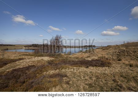 Winter shot of Redmires reservoir, Sheffield, United kingdom