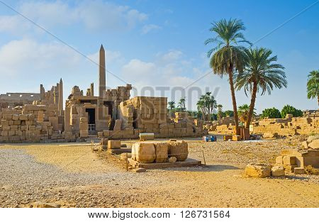 The Karnak Temple is the best place to enjoy the culture and art of ancient Egypt Luxor.