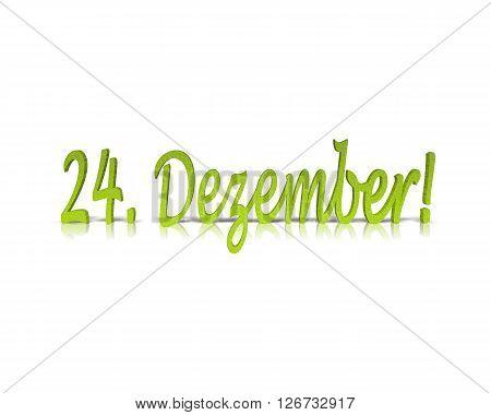 24. Dezember / 24. December - 3D Word