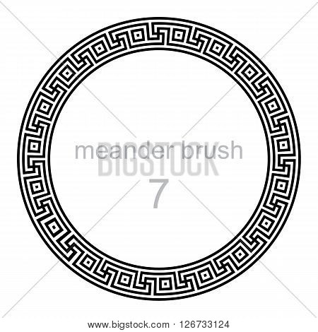 frame round ornament meander vector illustration round frame