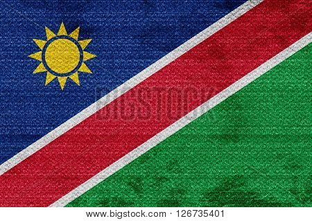 Namibian flag with some soft highlights and folds