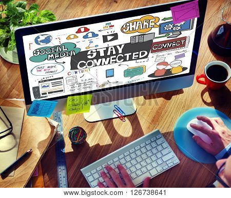 Stay Connected Friendship Relationship Social Concept
