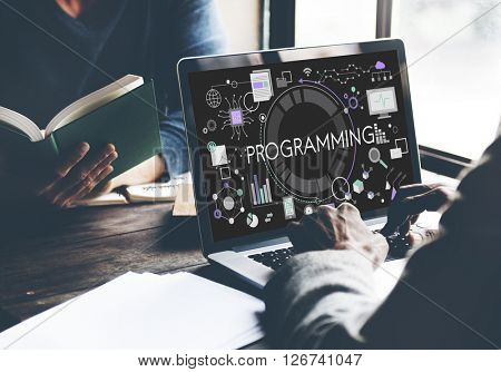 Programming Digital Computer Program Media Software Concept