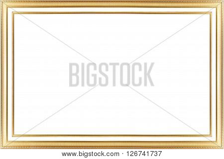 Classic Vintage  Gilded Frame Isolated On White Background.