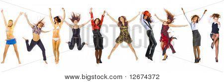 Постер, плакат: так счастлива группы женщин , холст на подрамнике