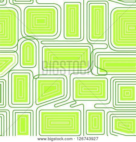 Vector seamless pattern. Modern stylish texture. Geometric striped ornament. Full color linear braids