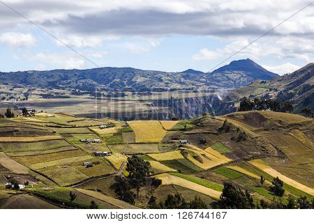 Zumbahua agrarian peasant rural area in the province of Cotopaxi, Ecuador.