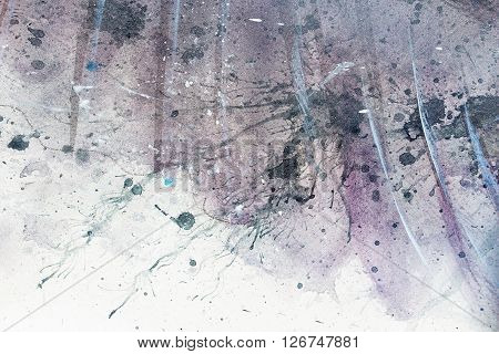 abstract painting with blurry and stained structure with gentle feather silhouette