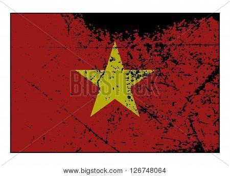 Vietnam Flag Grunged