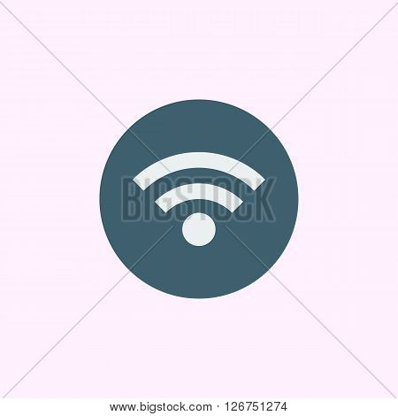 Wifi Icon In Vector Format. Premium Quality Wifi Symbol. Web Graphic Wifi Sign On Blue Circle Backgr