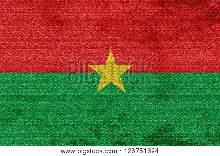 Burkina Faso flag with some soft highlights and folds