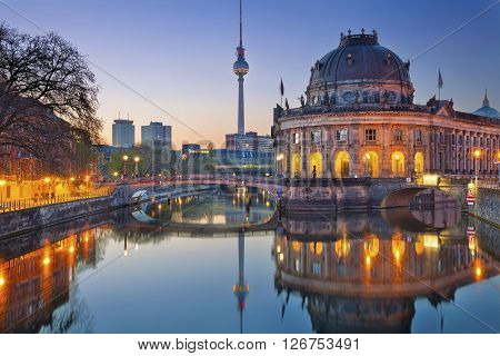 Berlin. Image of Museum Island and TV Tower in Berlin, Germany.