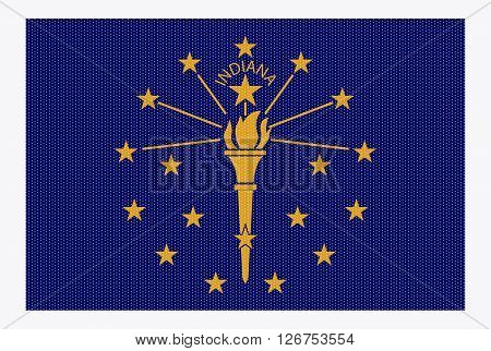 Indiana State Flag White Dots