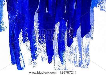 Blue vertical brushstrokes acrylic. hand painted background