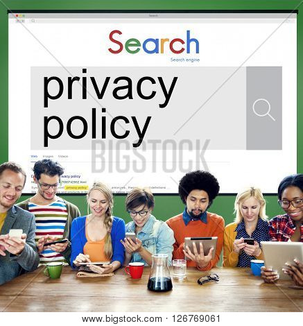 Privacy Policy Legal Law Private Protection Client Concept