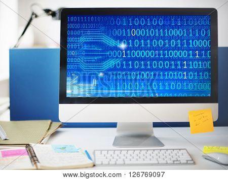 Binary Platform Interface Data Connection Technology Concept