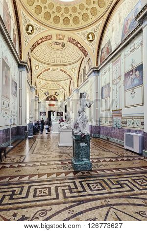 ST. PETERSBURG, RUSSIA - MARCH 03, 2016:  Interior of the State Hermitage (Winter Palace). Hermitage is one of the largest and oldest museums of art and culture in the world