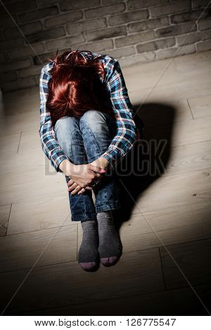 Depressed Young Crying Woman - Victim