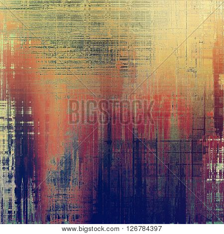 Scratched vintage texture, grunge style frame or background. With different color patterns: yellow (beige); blue; red (orange); gray; purple (violet); pink