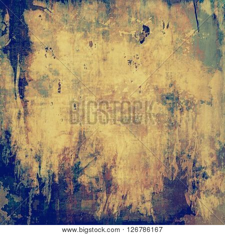 Elegant vintage background, antique texture. Designed grunge template with different color patterns: yellow (beige); brown; green; blue; gray