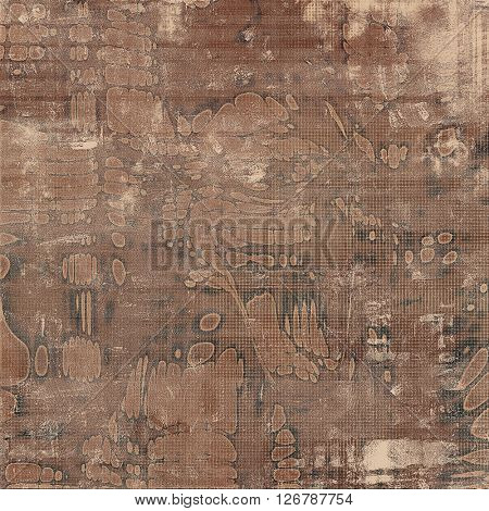 Colorful grunge texture or background with vintage style elements and different color patterns: yellow (beige); brown; gray; black