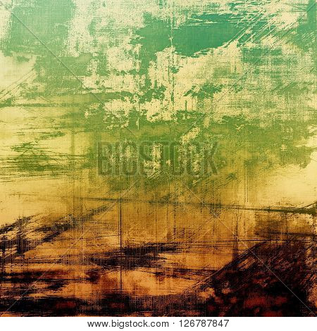 Elegant vintage background, antique texture. Designed grunge template with different color patterns: yellow (beige); brown; green; black