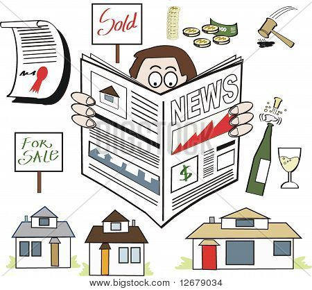 Real Estate news cartoon