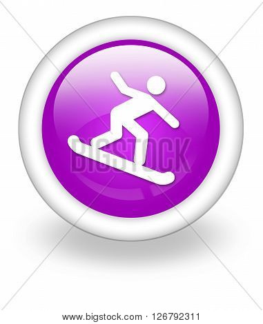 Image Photo Icon Button Pictogram with Snowboarding symbol
